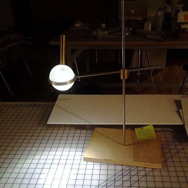 Ball lamp... mark IV. 6 months and almost done